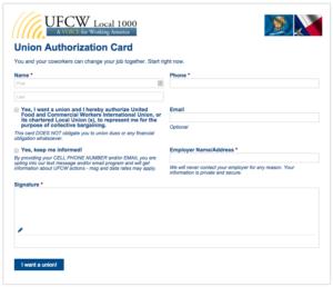 UFCW Electronic Card