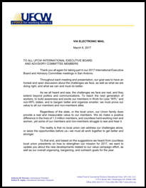 UFCW Reveals Strategy for 2017