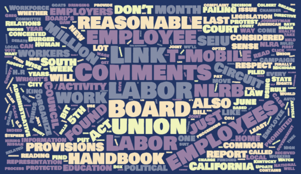 Labor Relations INK July 2017