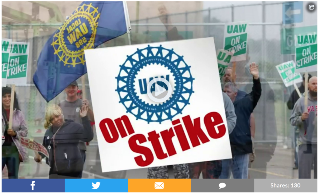 UAW Strike Precursor To A Midwest Recession