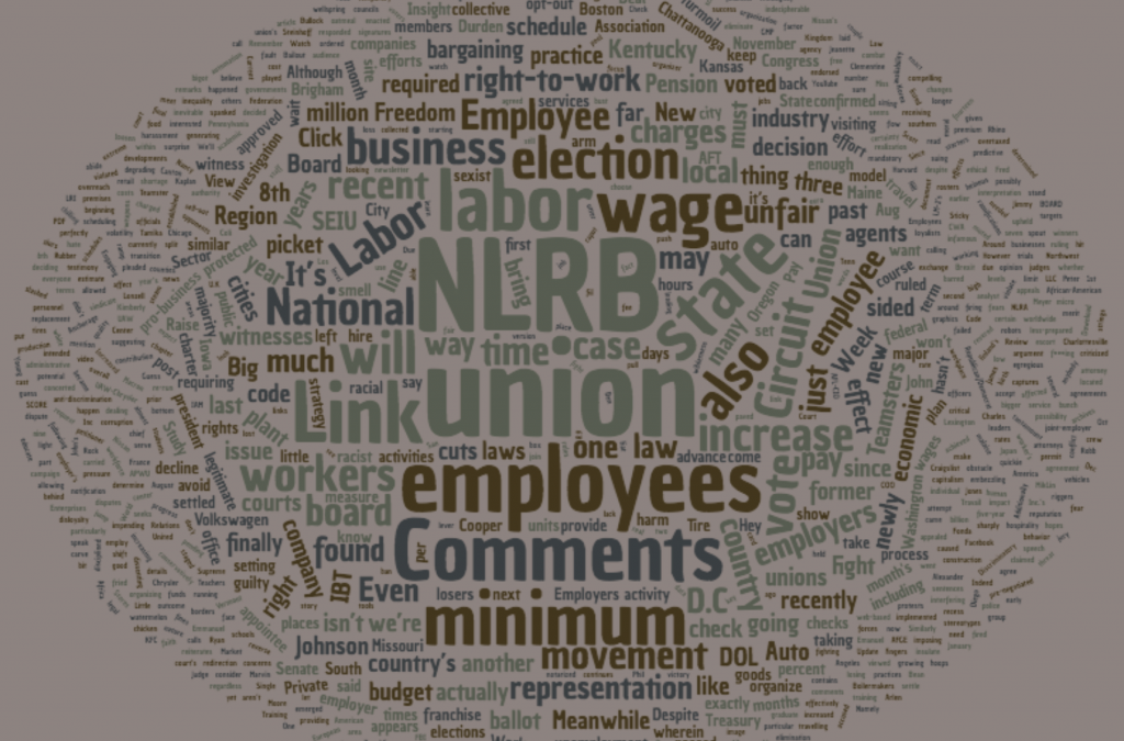 Labor Relations INK August 2017